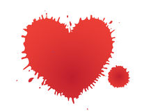 Heart stain. As design element Royalty Free Stock Image