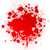 Heart a stain. Red stain in the form of heart. A vector illustration Stock Photo