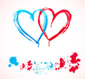 Heart stains Royalty Free Stock Images