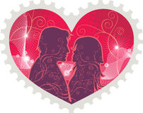 Heart stamp Stock Image