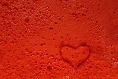 Heart stamp prints burst bubbles Royalty Free Stock Image