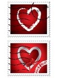 Heart stamps Stock Photography
