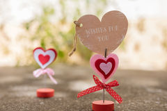 Heart standing on concrete floor for valentine day ,love and rom royalty free stock images