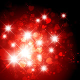 Heart and Star Holiday Background Royalty Free Stock Photography