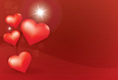 Heart star red background Royalty Free Stock Photo