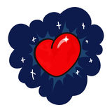 Heart in star sky Royalty Free Stock Photos