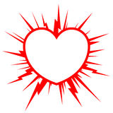 Heart starburst Royalty Free Stock Photo