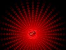Heart on starburst Royalty Free Stock Photos