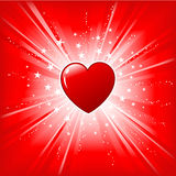Heart on starburst Stock Photography