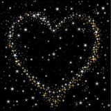 Heart of the starry sky Stock Photography