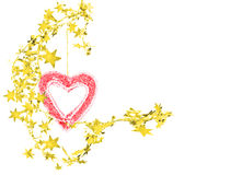 Heart with stars. Abstract garland with heart and stars Royalty Free Stock Photography