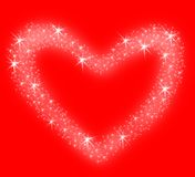Heart of stars stock photos