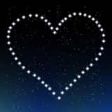 The heart of stars. On a dark background Stock Photo