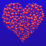 Heart of Stars Valentine Royalty Free Stock Photography
