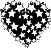 Heart stars vector Royalty Free Stock Photo