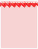 Heart Stationary. Colorful stationary notepaper background with hearts for valentine's day stock illustration