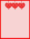 Heart Stationary. Colorful stationary notepaper with hearts for valentine's day vector illustration