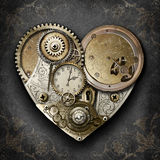 Heart of Steampunk. Steampunk styled heart created with gears, cogs, watch & clock parts