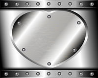 Heart of Steel on a metal background Stock Photo
