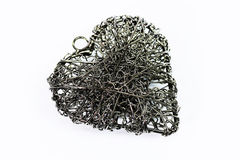 Heart of steel wire Stock Images