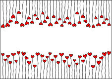 Heart with stems and space for Valentines. Illustration of heart shapes with stems and space for Valentines message, could be used as greetings card vector illustration