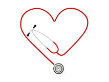 Heart Stethoscope Royalty Free Stock Images