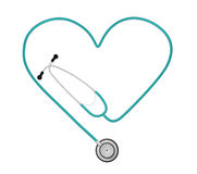 Heart Stethoscope Stock Photography