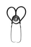 Heart stethoscope. Shape heart stethoscope isolated on white Royalty Free Stock Image