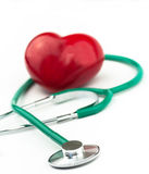 Heart and a stethoscope Stock Photos