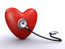 Heart and stethoscope Royalty Free Stock Photo