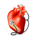Heart and stethoscope Royalty Free Stock Images