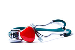 Heart & Stethoscope Royalty Free Stock Photography