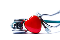 Heart & Stethoscope Royalty Free Stock Photos