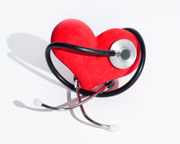 Heart and stethoscope Stock Image
