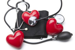 Heart and a stethoscope Stock Photo