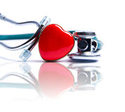 Heart & Stethoscope Stock Photography
