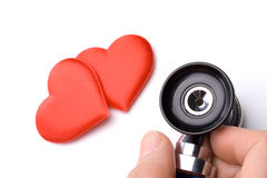 Heart and a stethoscope Royalty Free Stock Images