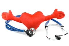 Heart and a stethoscope Royalty Free Stock Photography