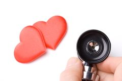 Heart and a stethoscope Stock Photography