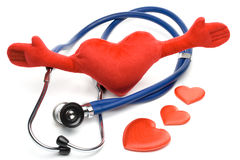Heart and a stethoscope Royalty Free Stock Image