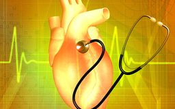 Heart and stethoscope Royalty Free Stock Photos