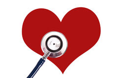 Heart. Stethoscope with heart, concept of cardiovascular health Royalty Free Stock Photo