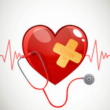 Heart and Stethoscope Stock Photos