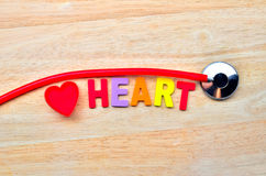 Heart and stethoscope Royalty Free Stock Photography