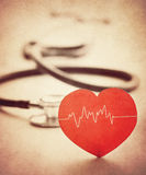 Heart and stethoscope Stock Photography