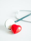 Heart with stethoscope Royalty Free Stock Image