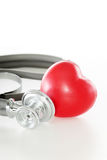 Heart and sthetoscope Royalty Free Stock Images