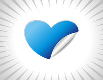 Heart sticker Royalty Free Stock Images
