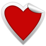 Heart sticker Stock Photo