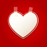 Heart Sticker Royalty Free Stock Photography